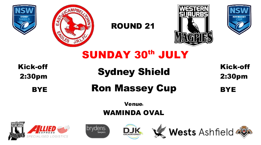 Round 21 - Wests v East Campbelltown