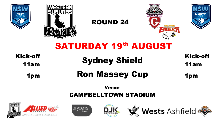 Round 24 - Wests v Belrose and Glebe, Wests Tigers v Canterbury