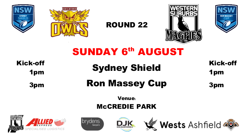 Round 22 - Wests v Guildford