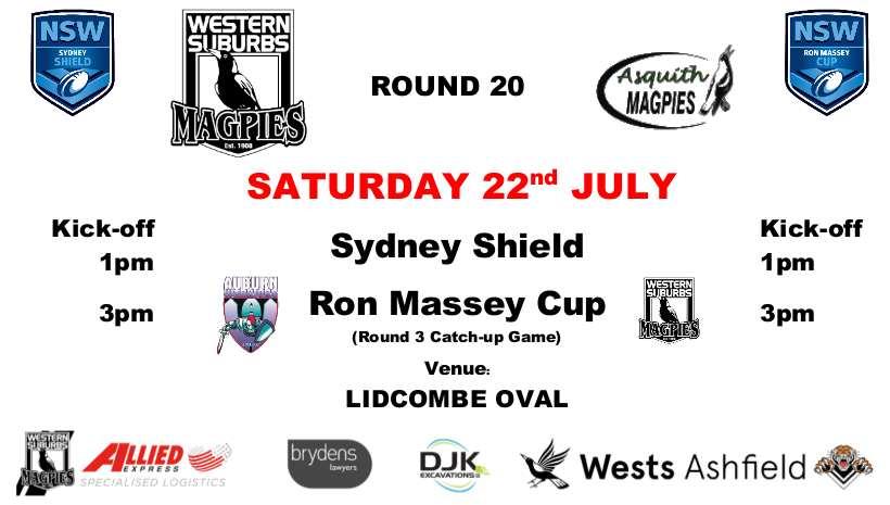 Round 20 - Wests v Asquith / Auburn v Wests
