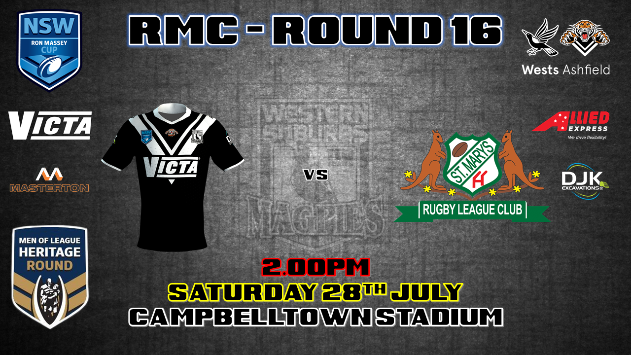 Men of League Heritage Round - Ron Massey Cup - Round 16