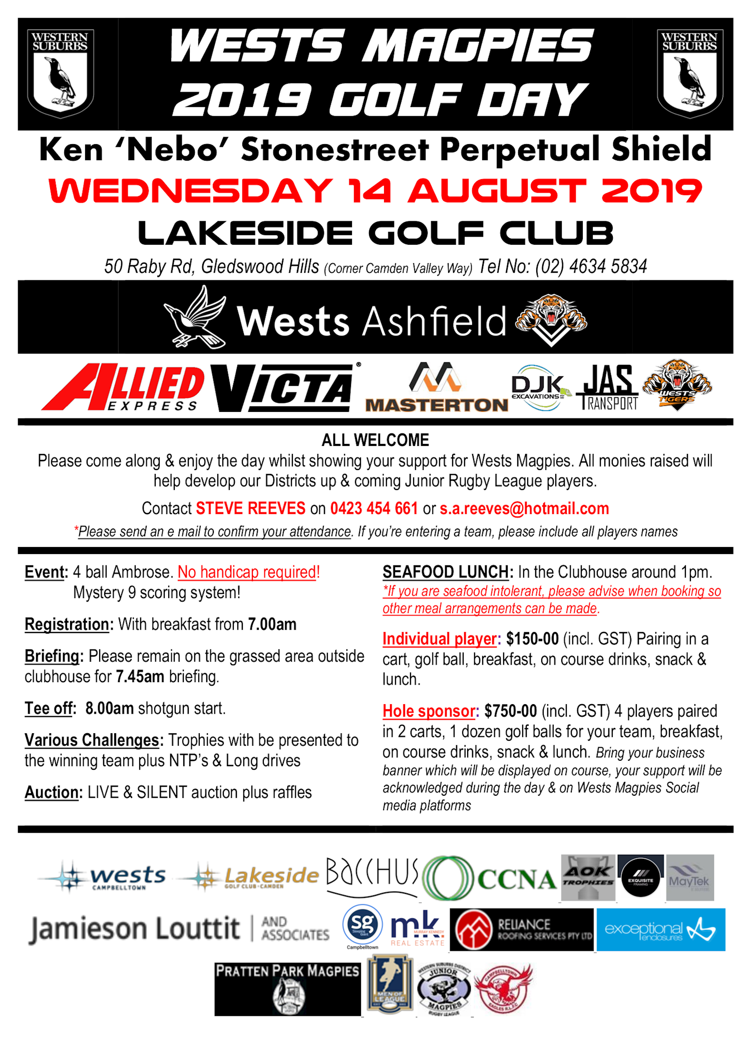 2019 Wests Magpies Golf Day