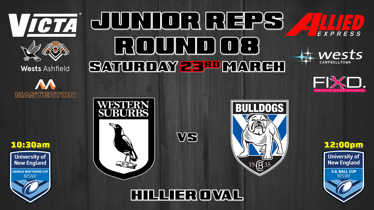Junior Reps Round 8 v Bulldogs
