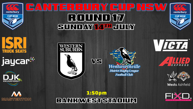 Canterbury Cup - Wests Magpies v Wentworthville