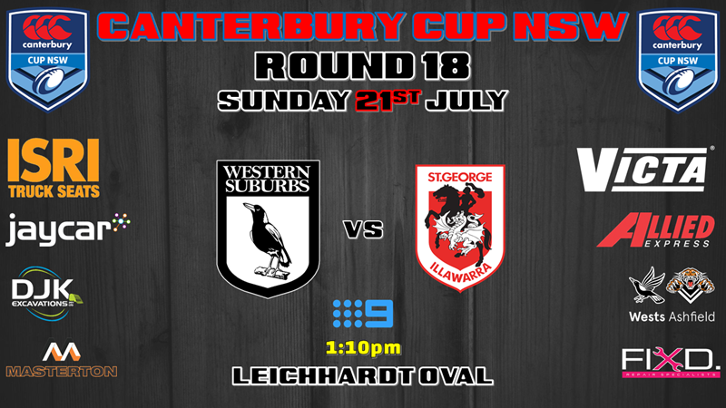 Canterbury Cup - Wests Magpies v St George Illawarra Dragons
