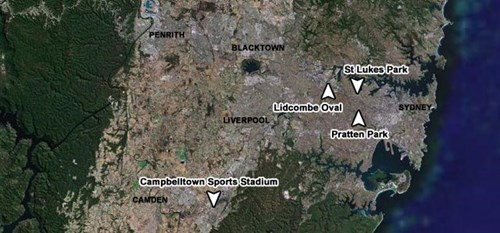 Satellite View of Wests Home Grounds
